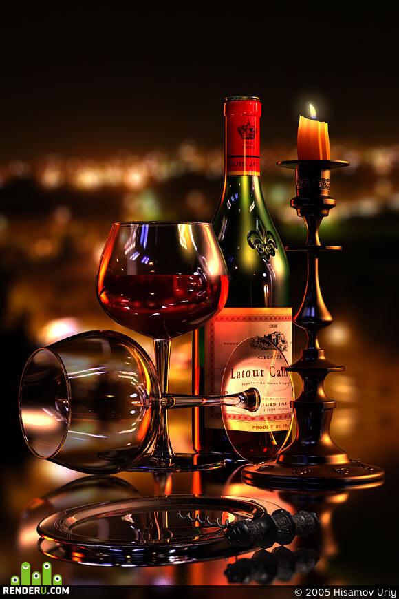 Конверт открытка, открытка с добрым вином