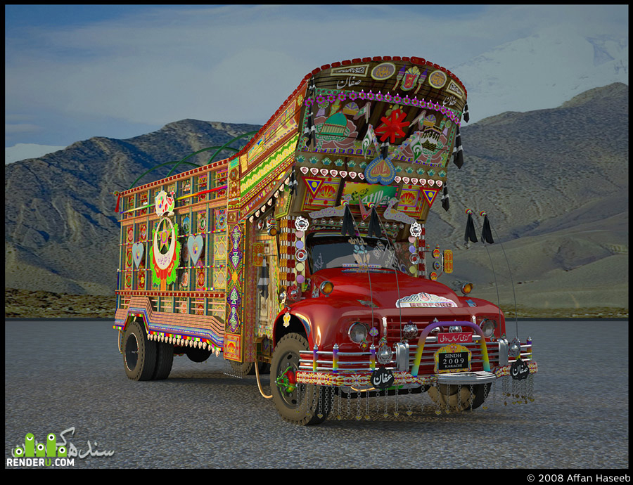 preview 3D Pakistani Truck (Bedford)