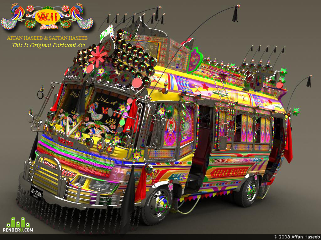 preview Create a First Time 3D Pakistani Bus W11