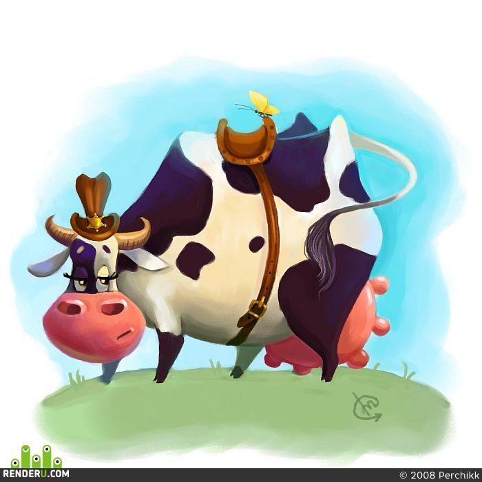 preview Идет ли корове седло?