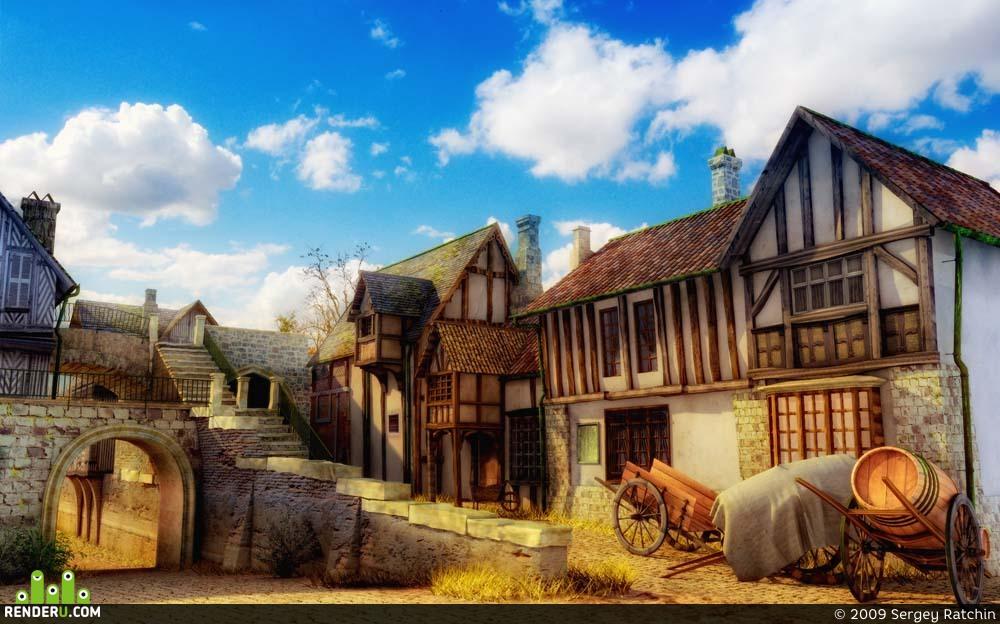 preview старый европейский город