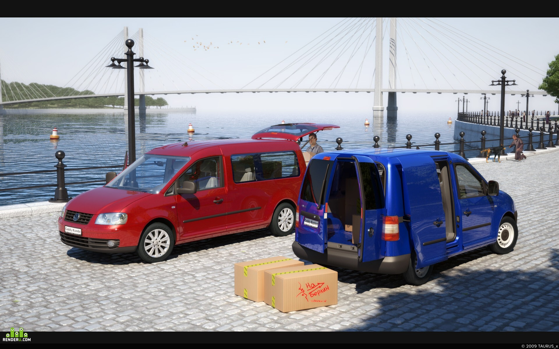 preview VW Caddy, Quay Shot