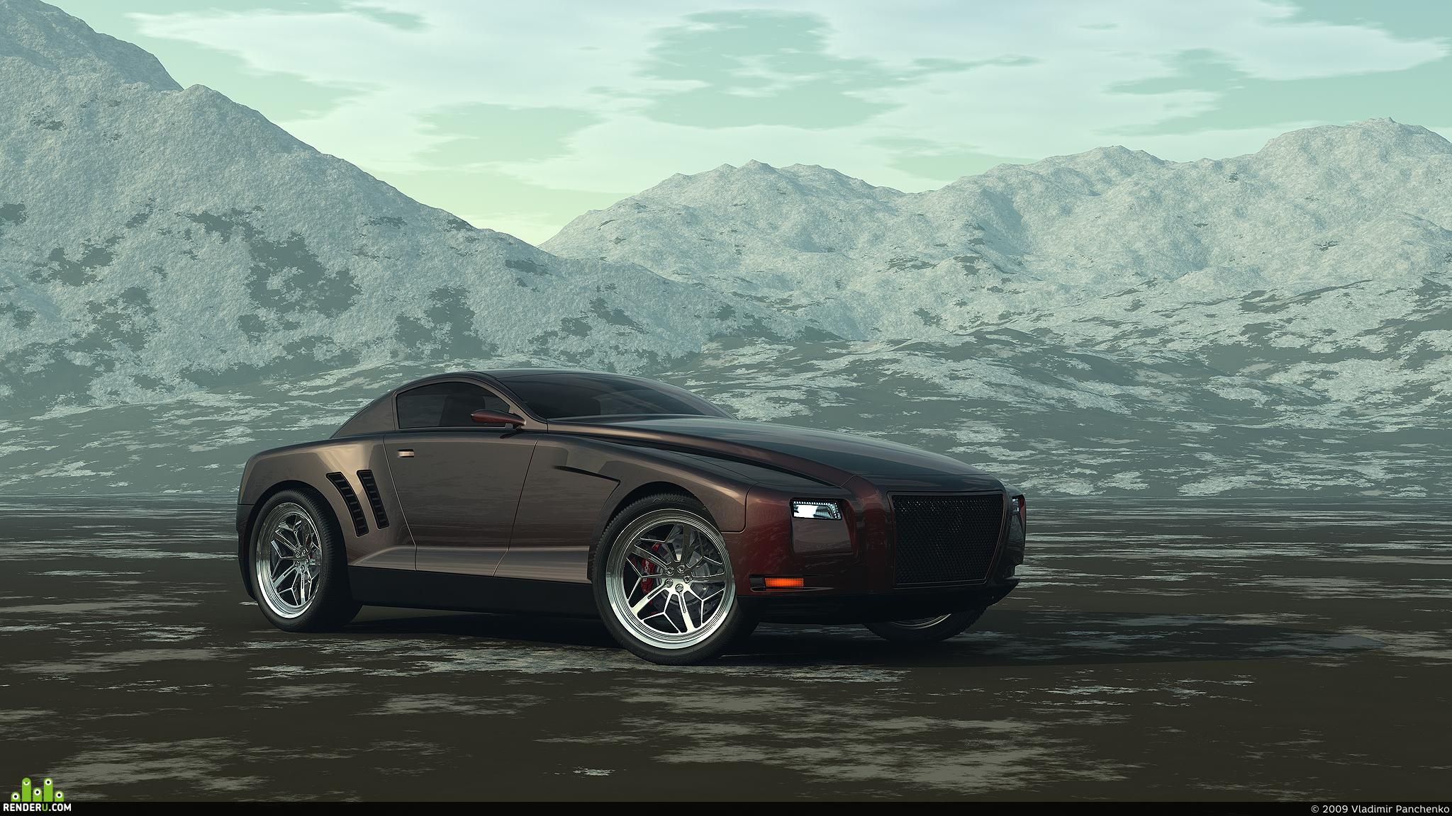 preview Бультерьер Concept Car (в окружении)