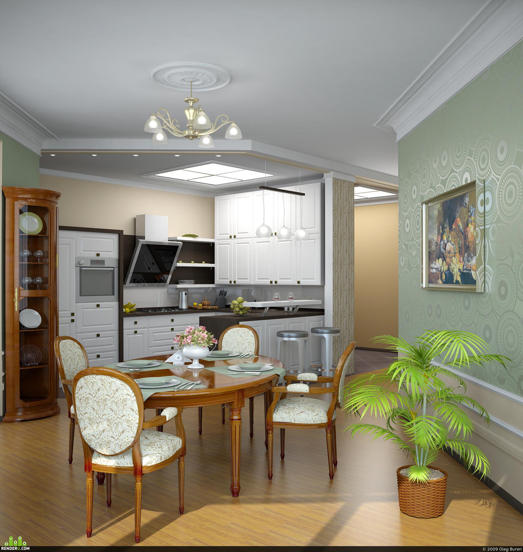 preview Кухня однокомнатной квартиры