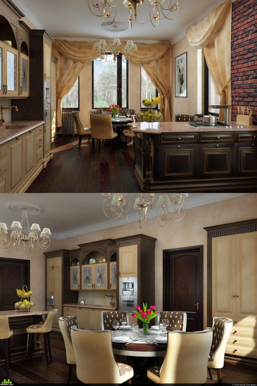 preview Кухня в частном доме.