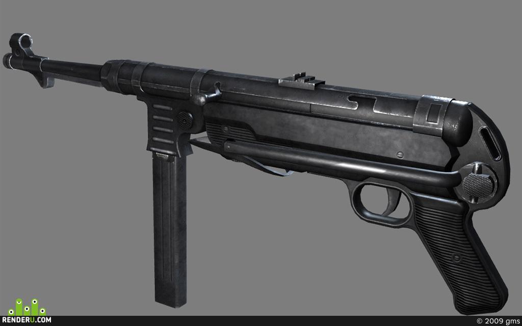 preview пистолет-пулемет MP40