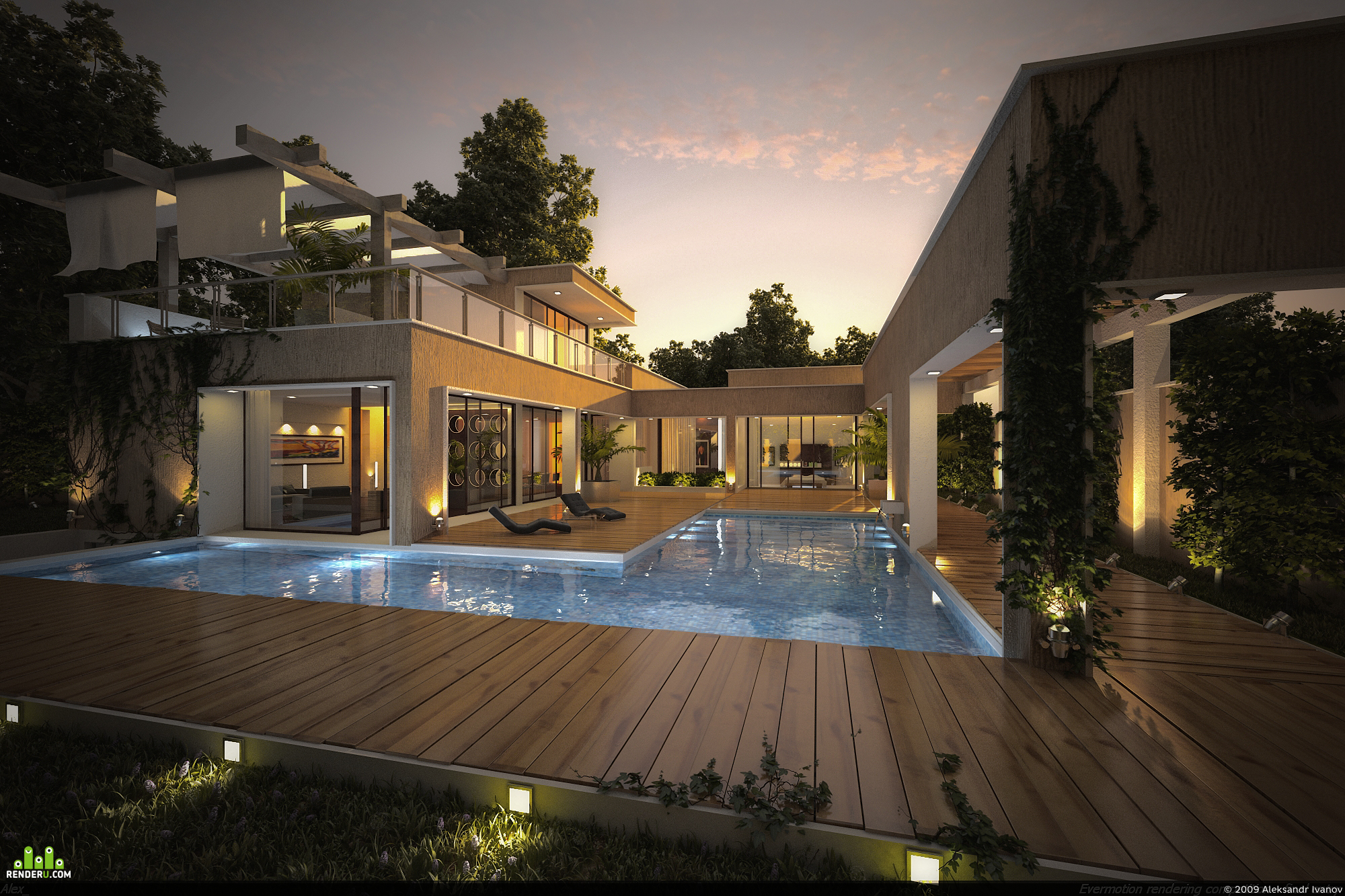 preview House with pool