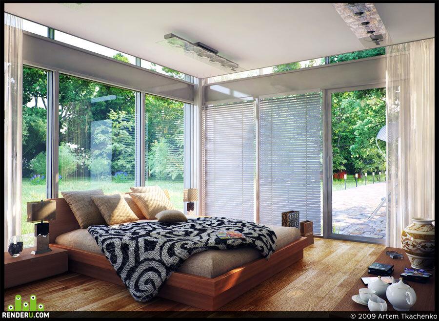 preview Спальня загородного дома
