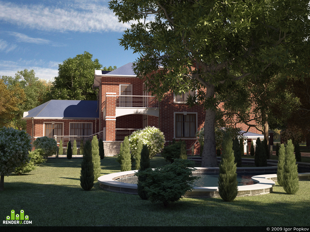 preview Анимация загородной резиденции