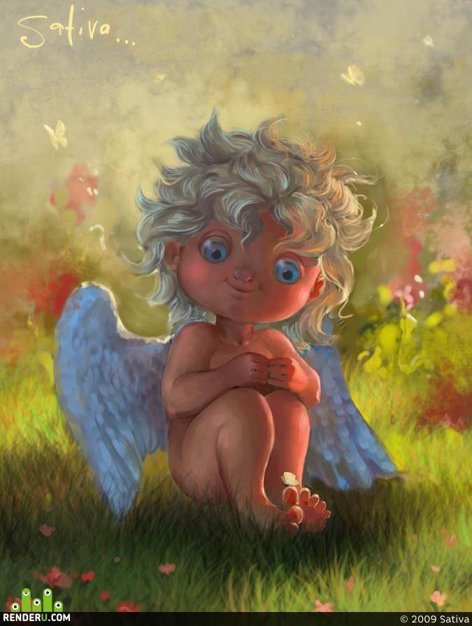 Картинки доброе утро ангел, дню
