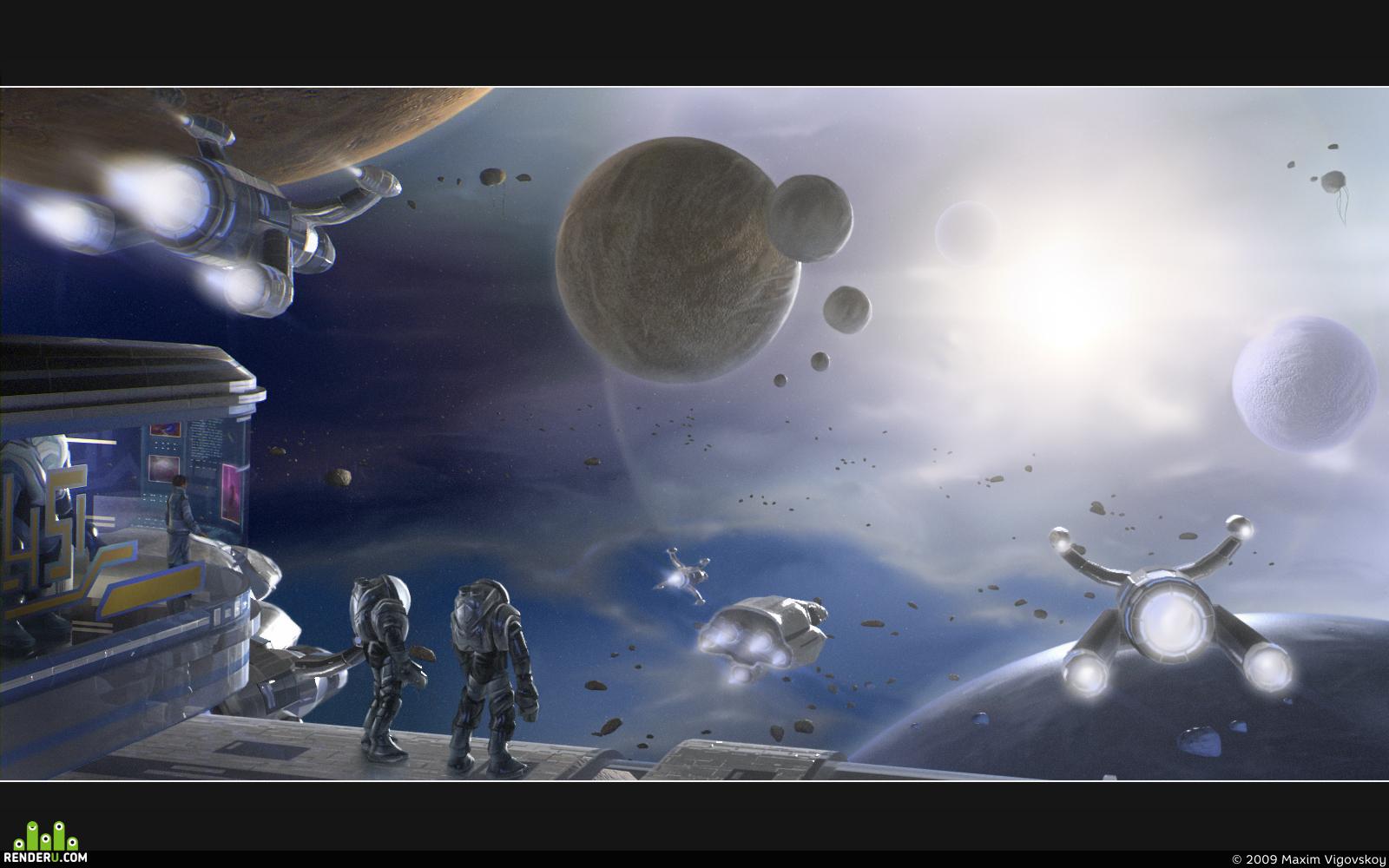 preview Туманность ориона. Космические иследователи.