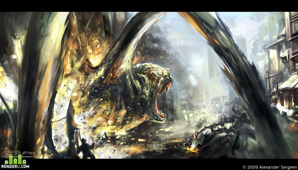preview Дракон в городе