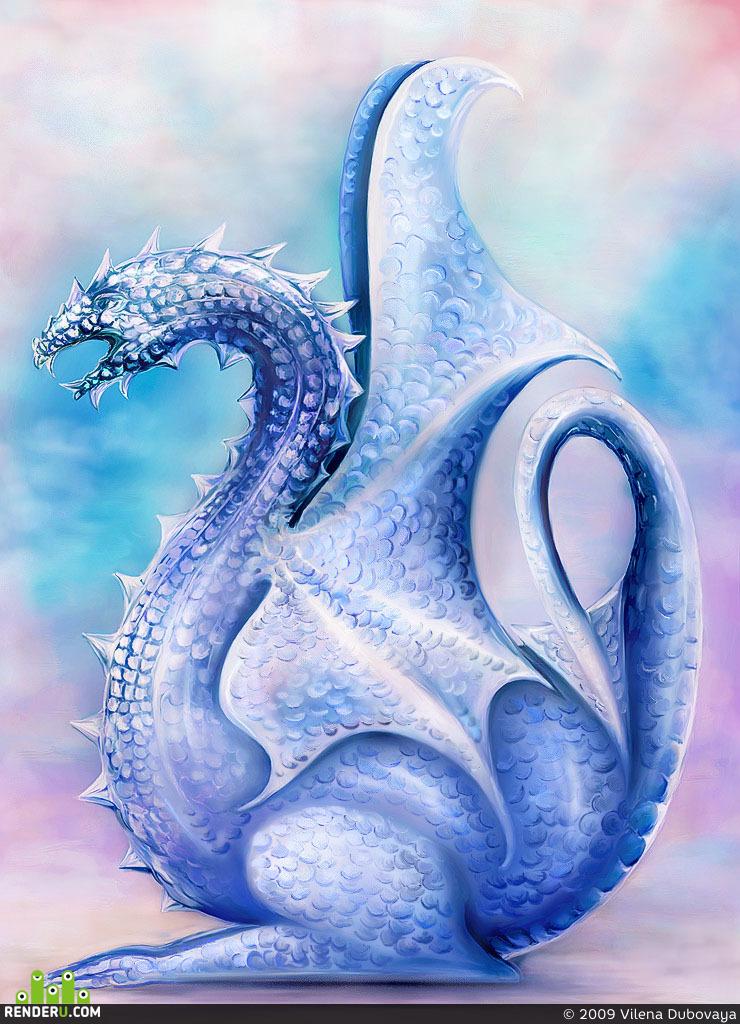 preview Ледяной Дракон 2. Чайник, стилизация