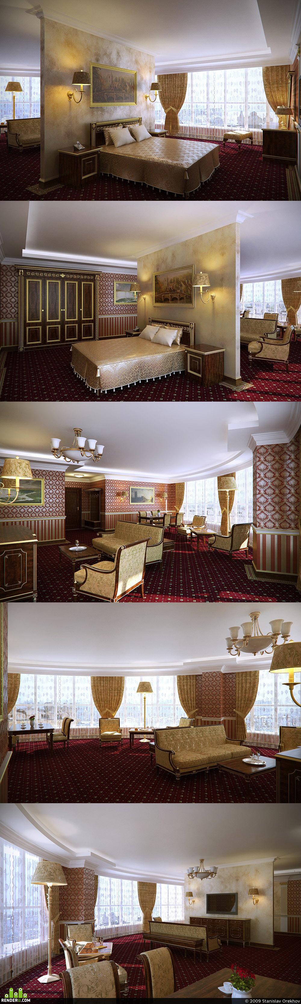 preview Интерьер гостиницы 4*, люксовые номера