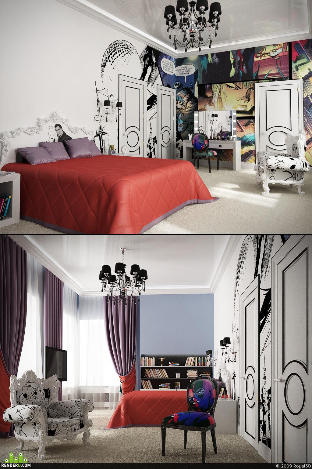 preview Стильная спальня.