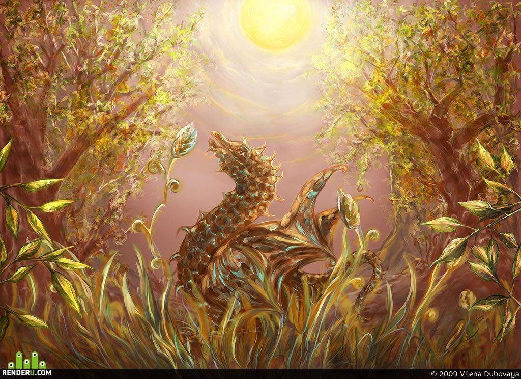 preview Дракончик в волшебном лесу