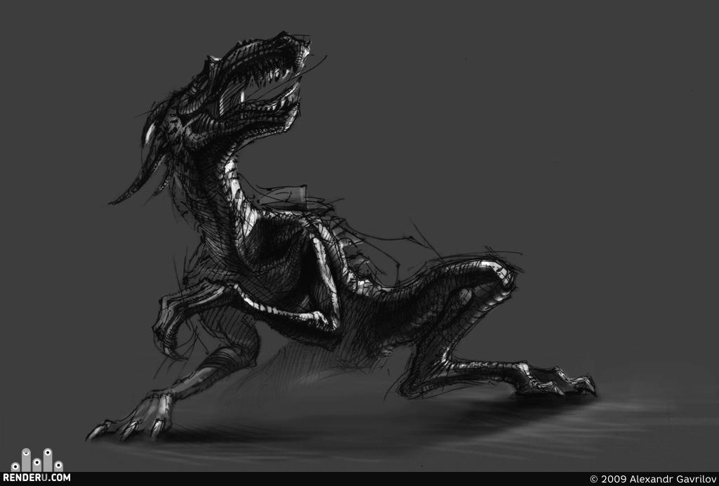 preview Dragon Sketch
