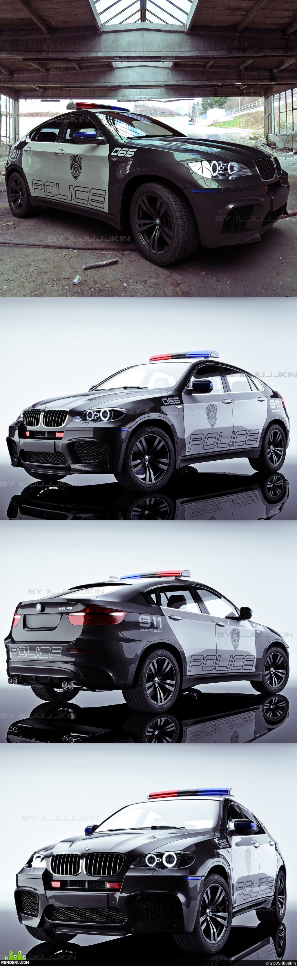 preview BWM X6 police car