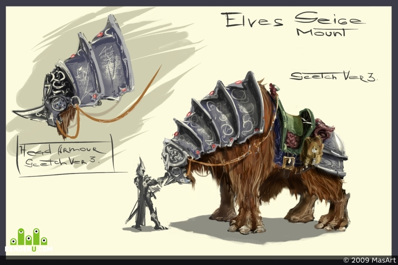 "preview Elves ""Seige"" Mount"