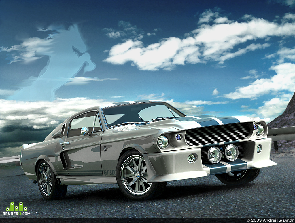 preview Ford Shelby Mustang GT-500 1967 White - Sky