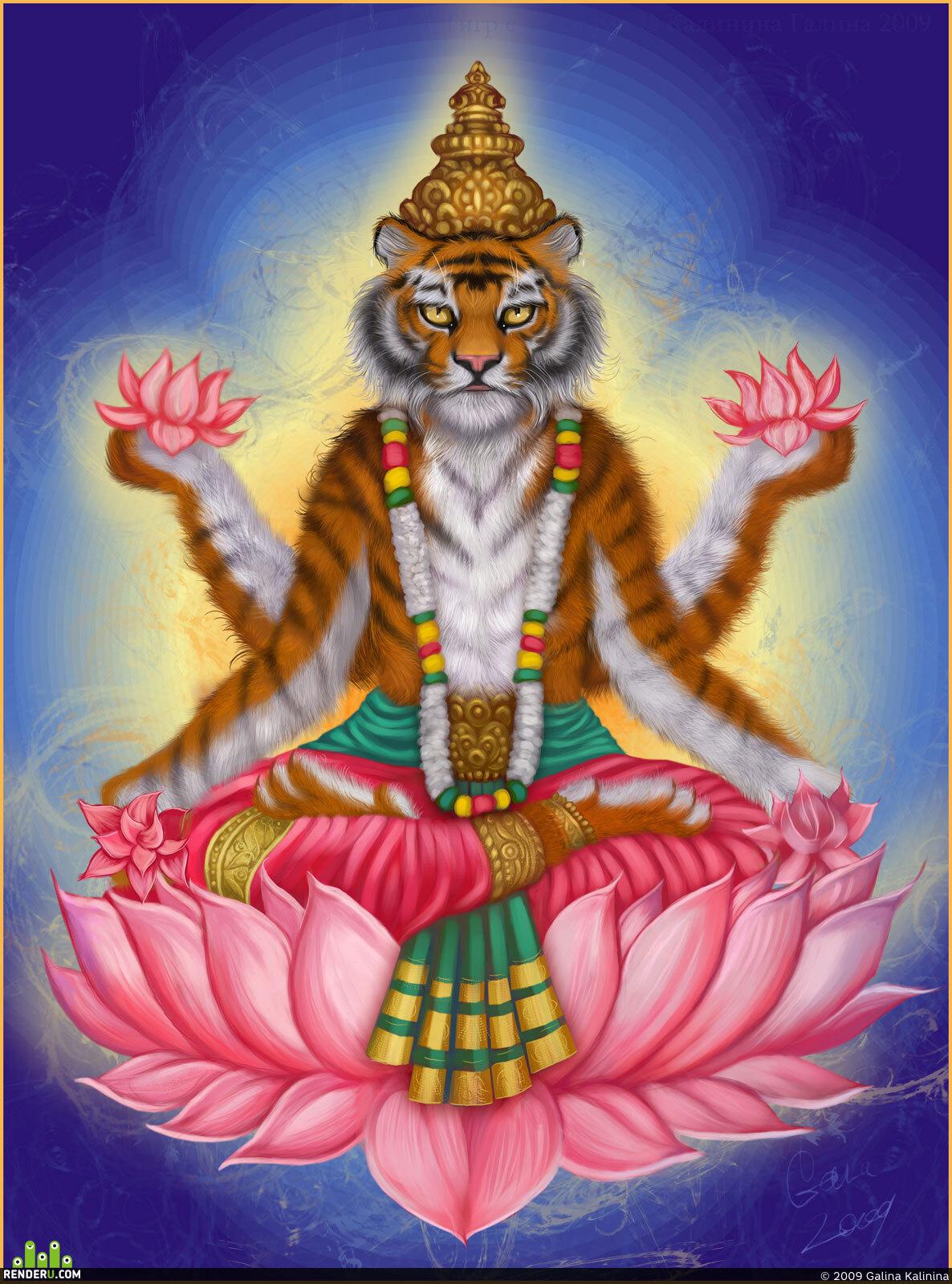 preview Tigr s lotosami