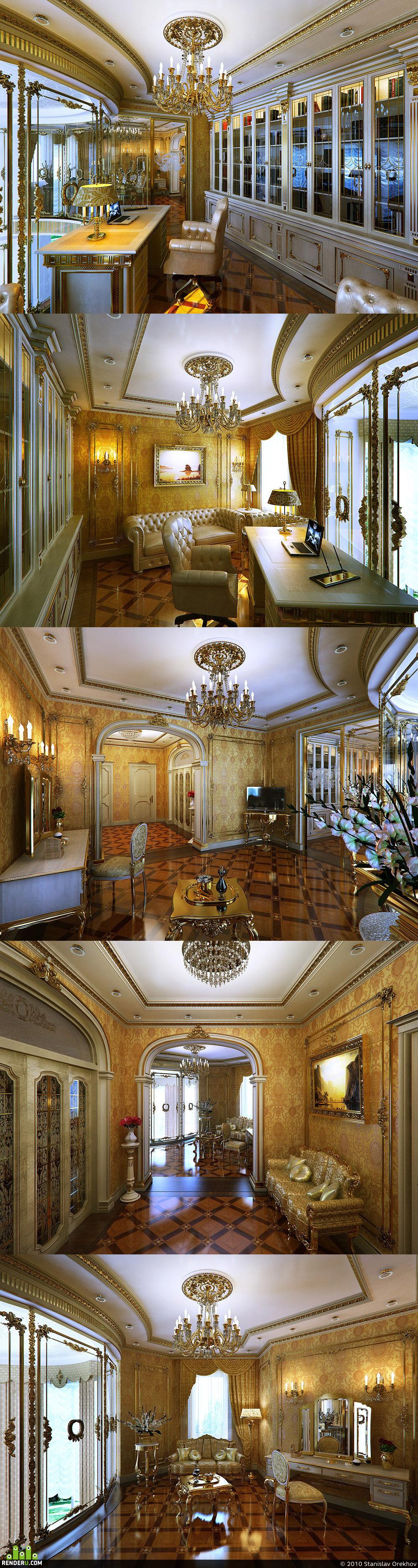preview Klassicheskiy dom, holl vtoroy etaj