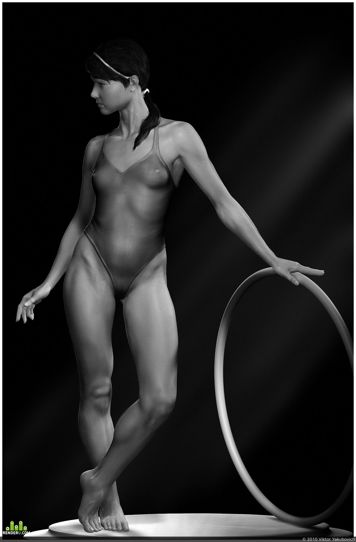 preview Girl with hoop