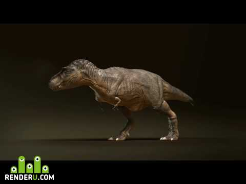 preview TRex Muscle Animation...