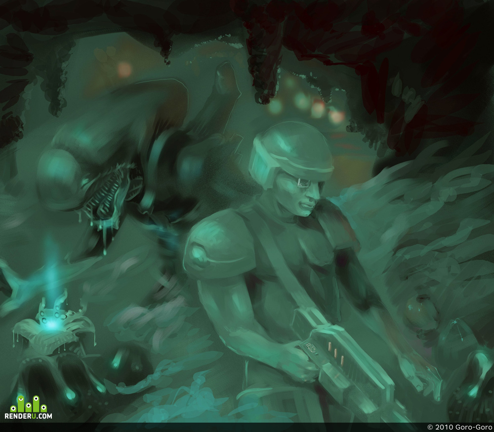 preview Alien vs Space Marine