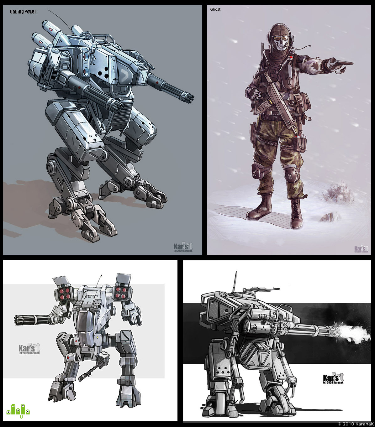 preview Mecha & Ghost (CoD MW2)