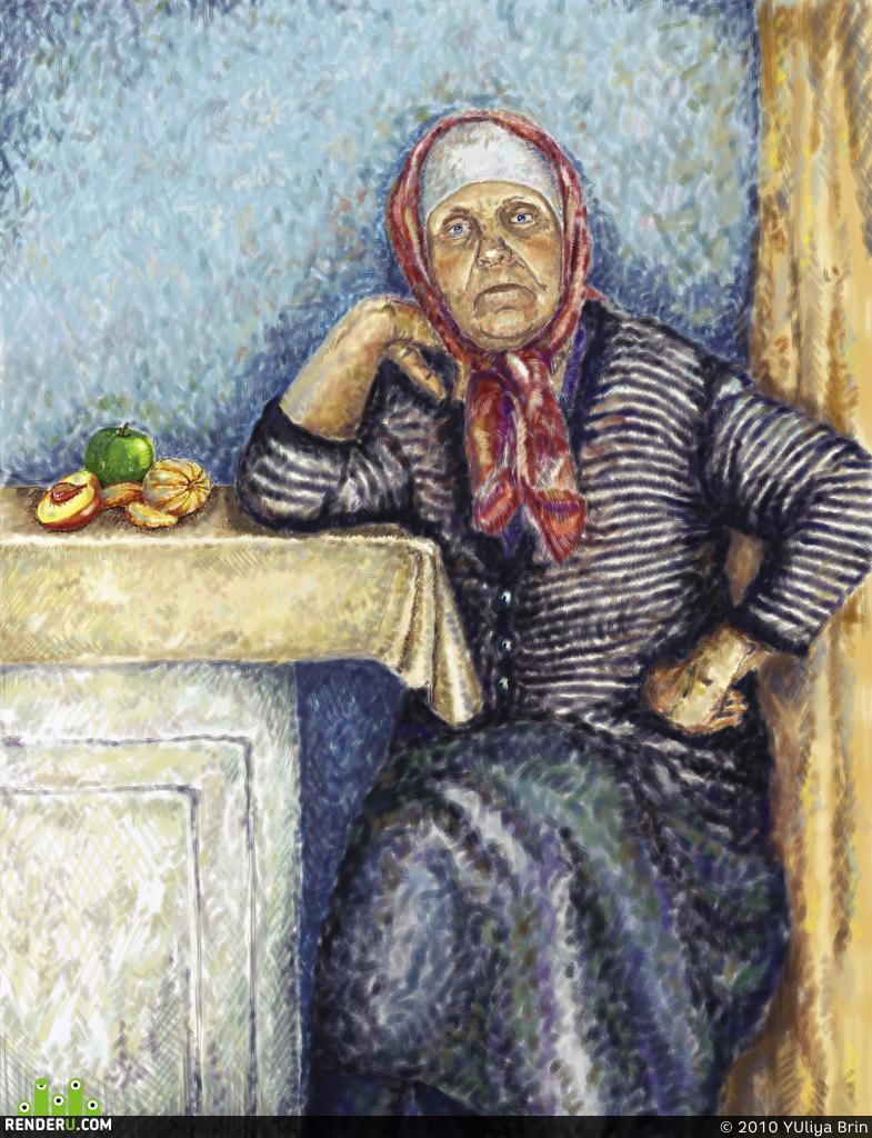 preview portret babushki
