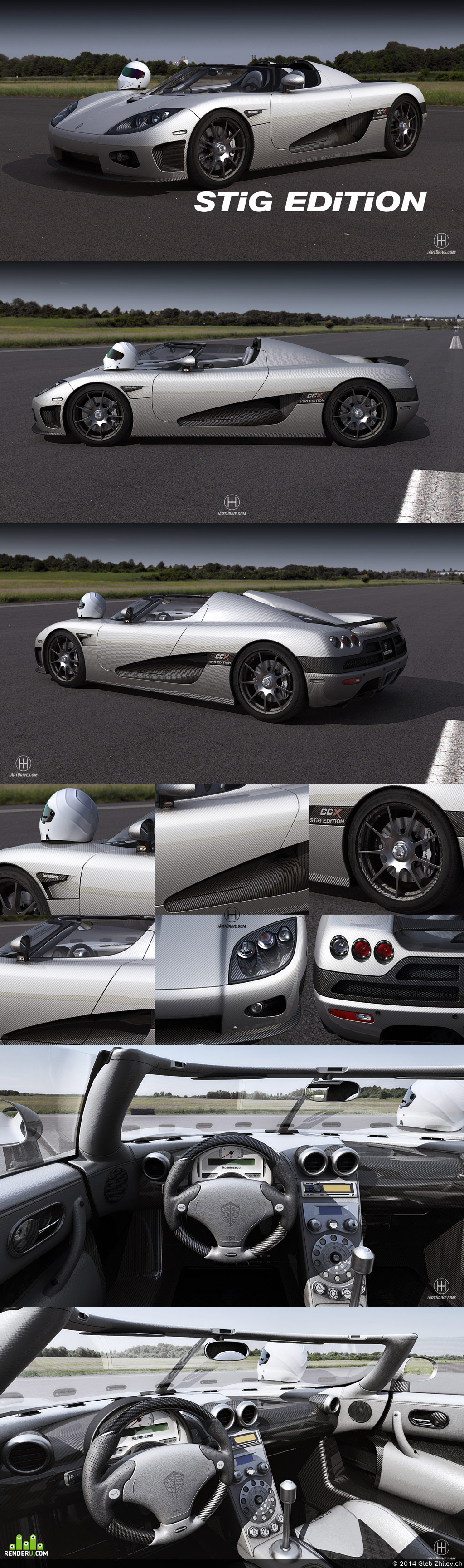 preview Koenigsegg CCX Stig Edition in-game 3D model Next Gen