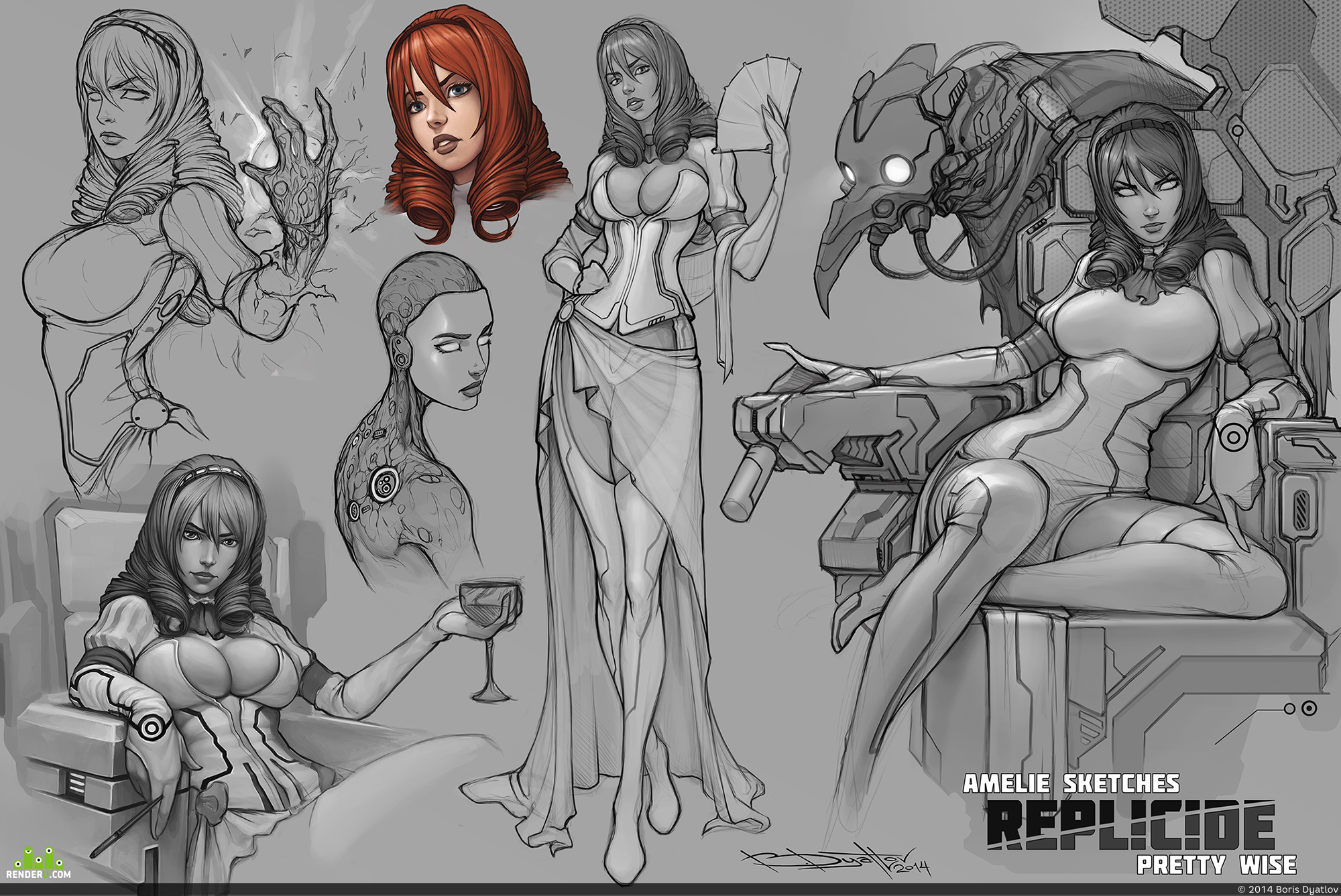 preview Amelie sketches REPLICIDE