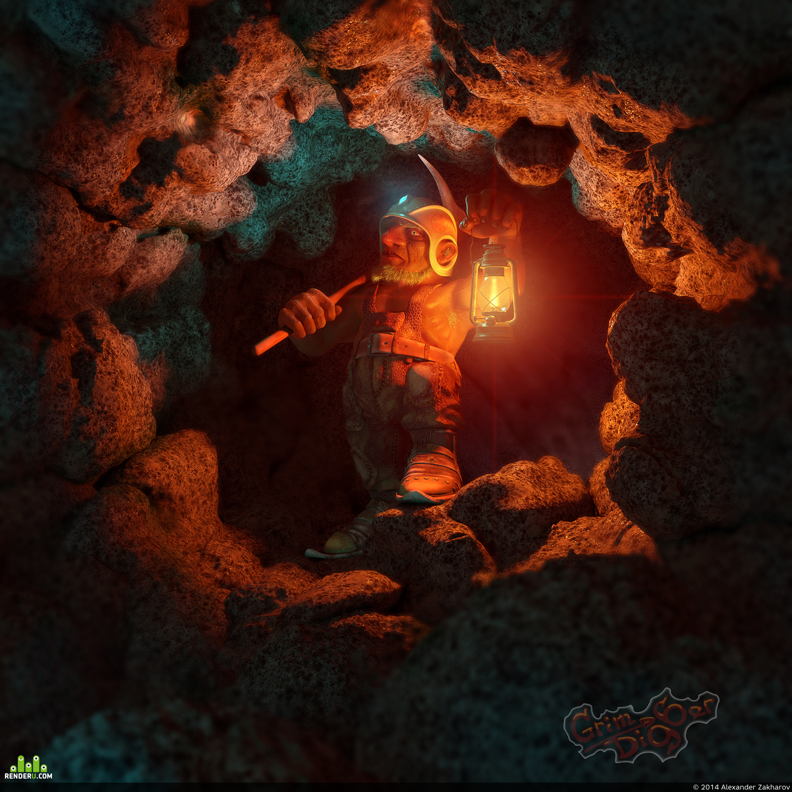 preview dwarf in a cave