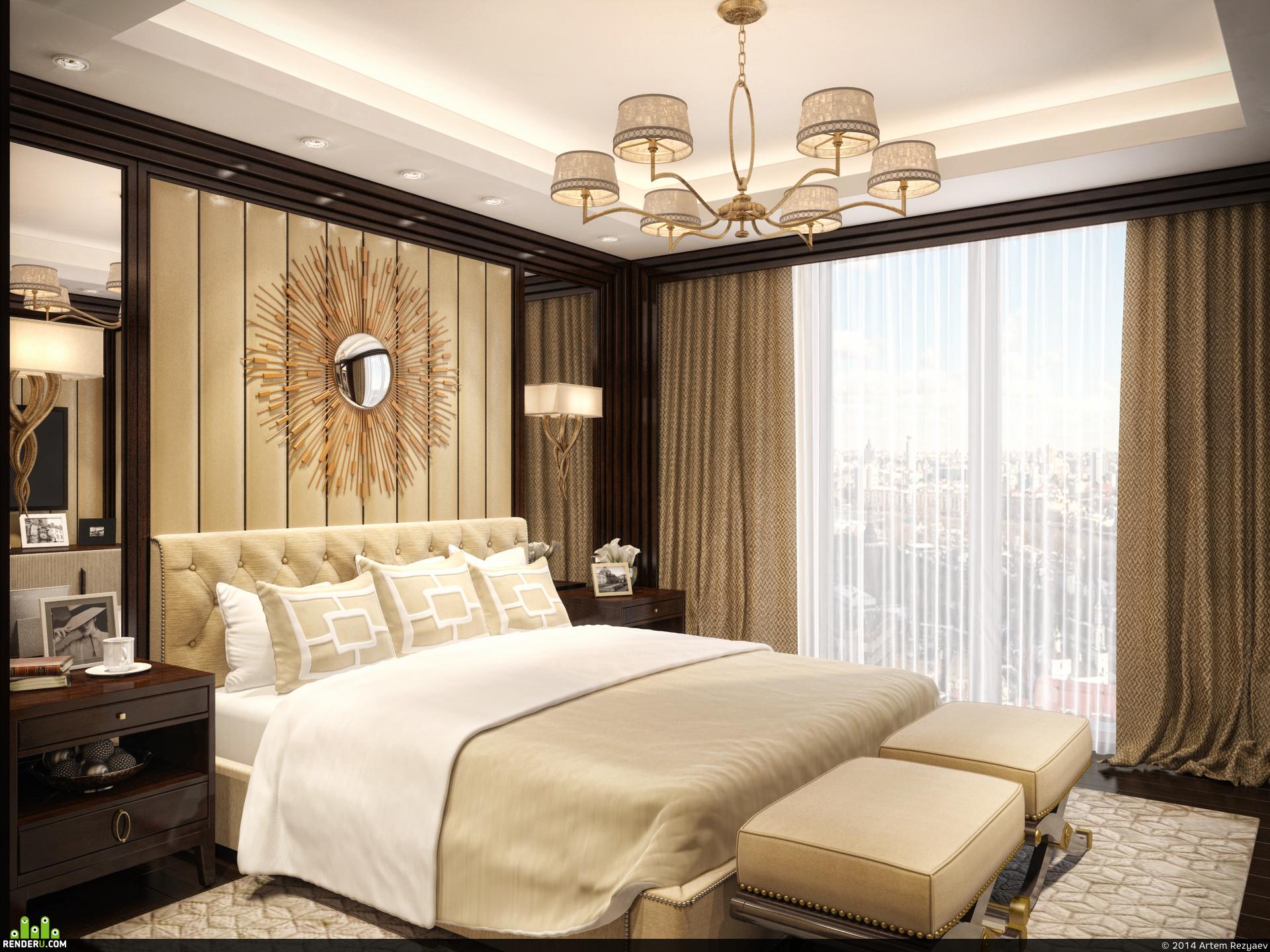 preview 3D визуализация спальни