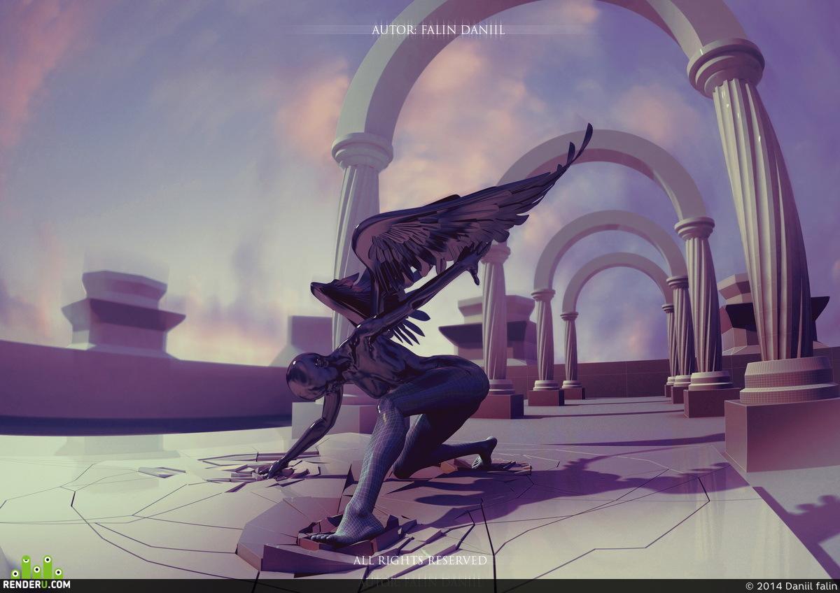 preview 3д ангел эскиз к моей скульптуре