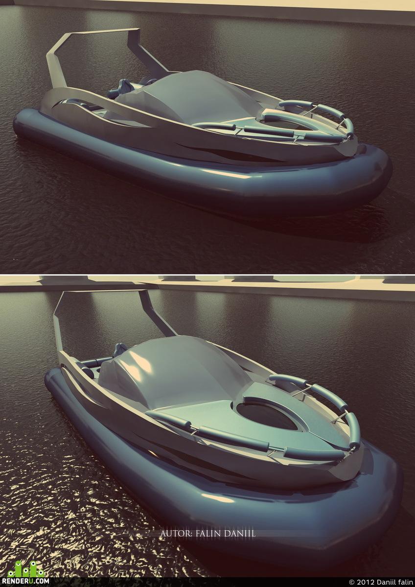 preview 3д модель Риб катер яхта проектирование дизайн