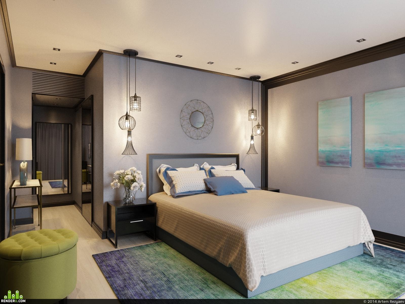 preview визуализация спальни