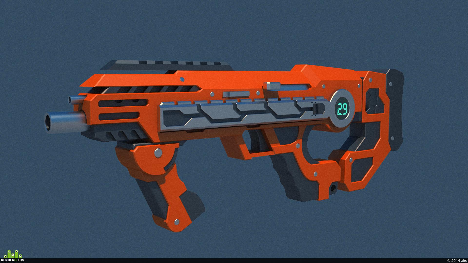 preview Sci-fi gun