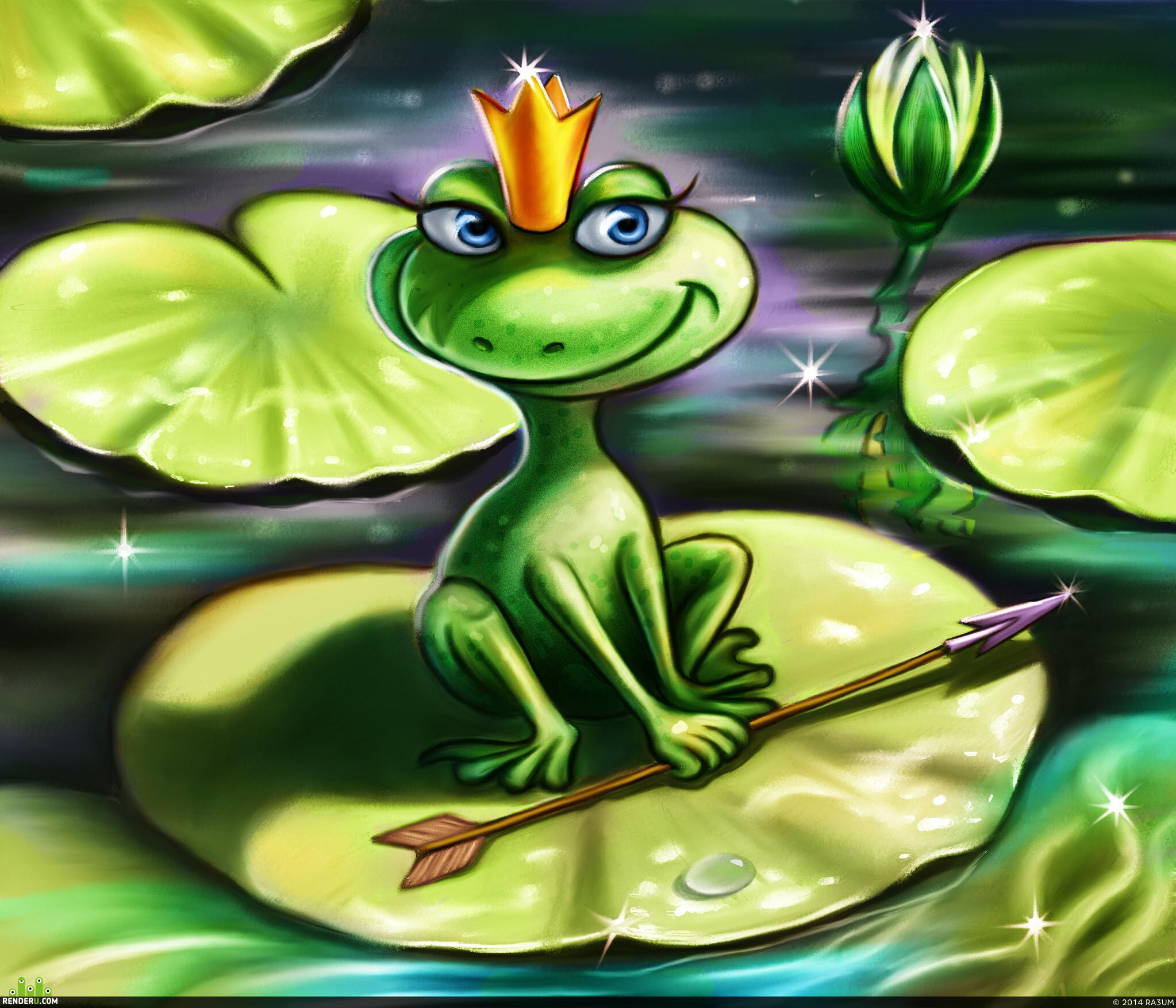 Картинки лягушка сказочная