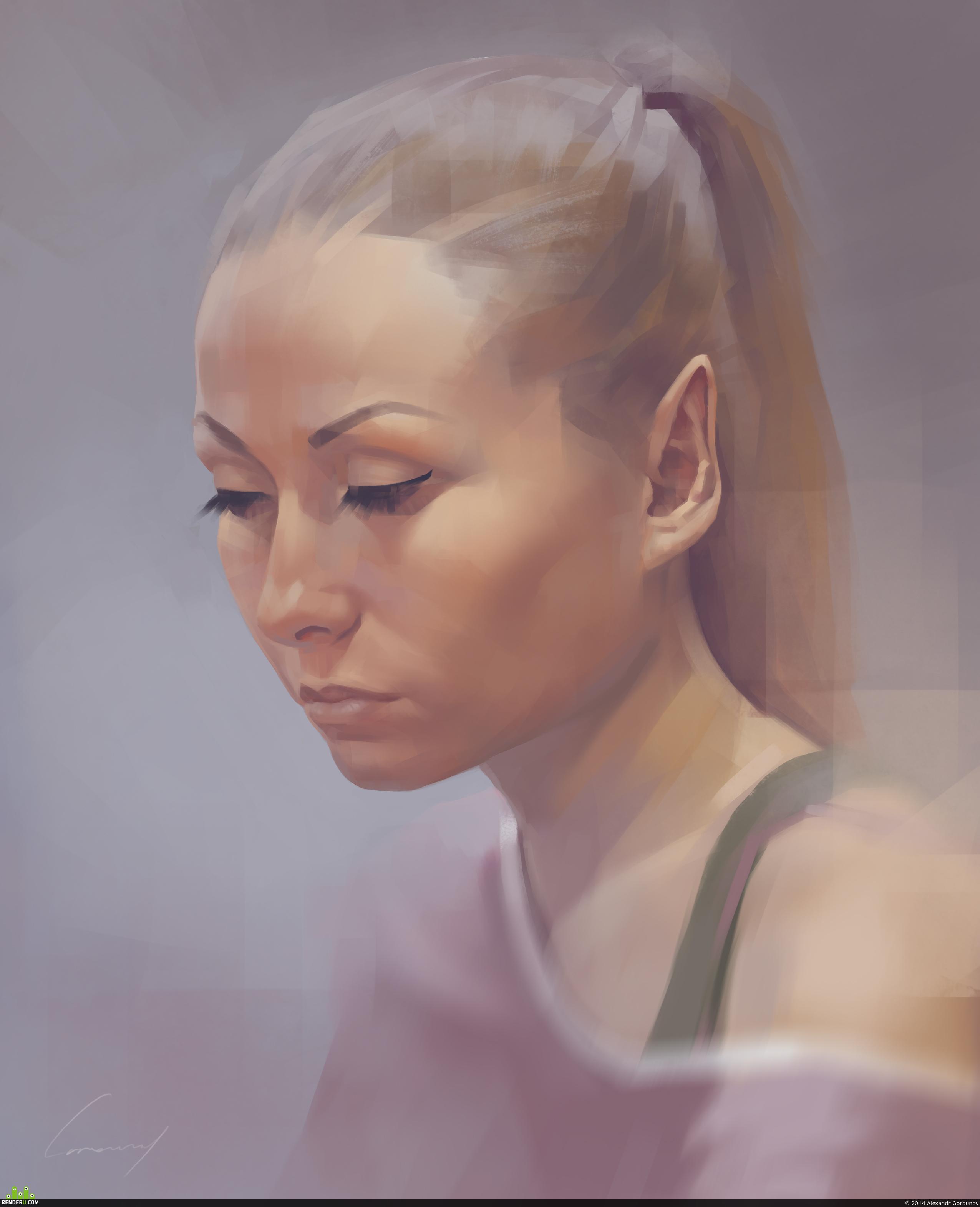 preview Портрет, с натуры
