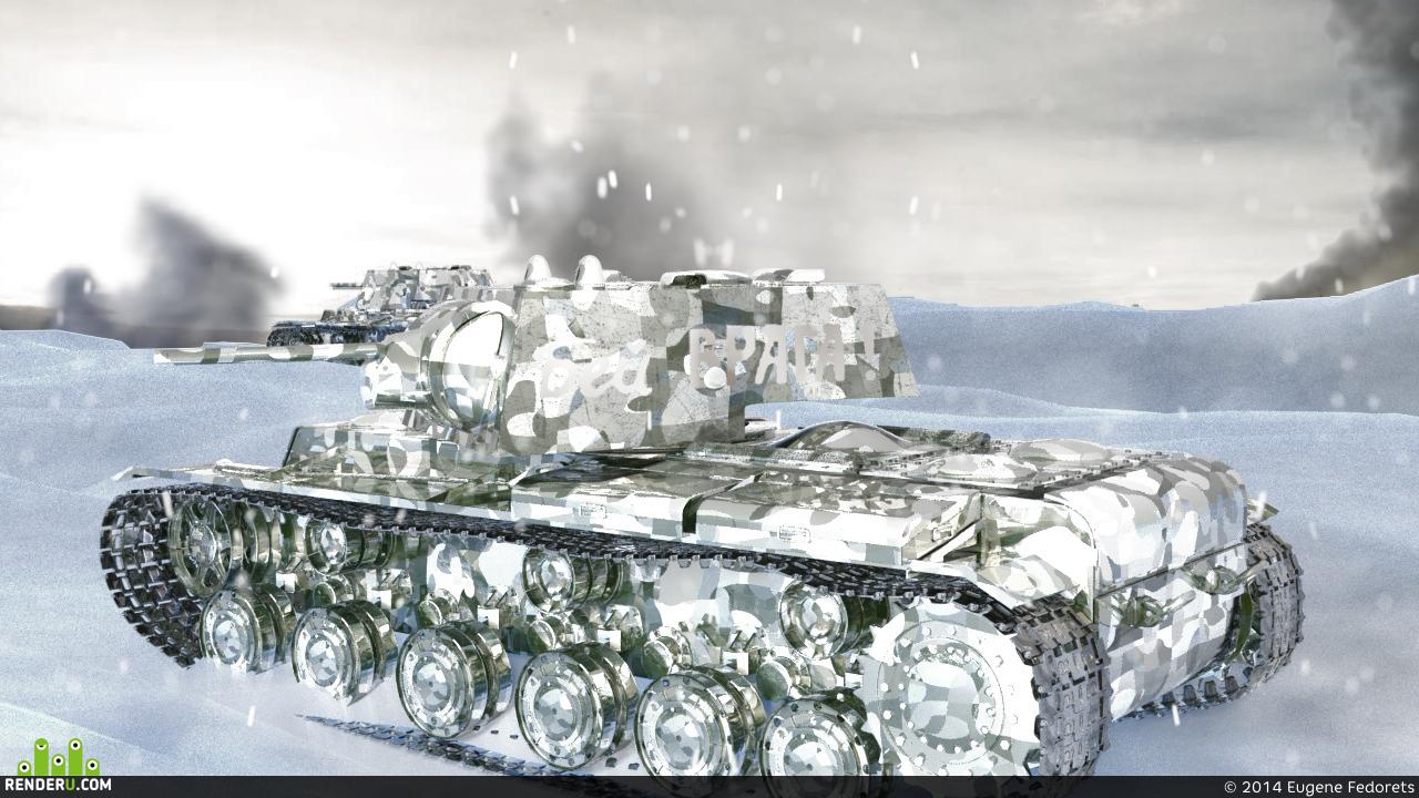 preview Зимнее Наступление (Тяжелый танк КВ-1)