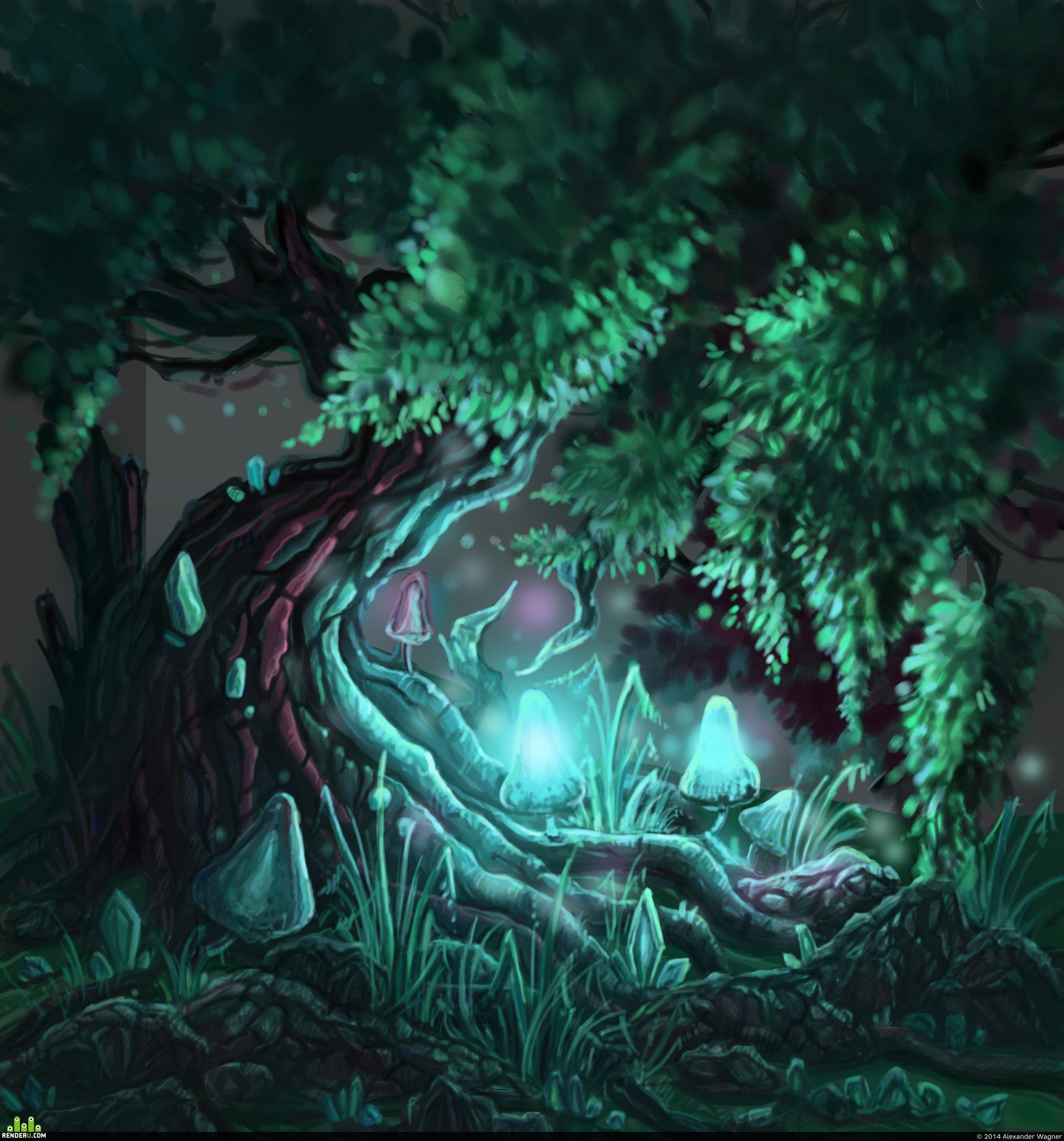 preview Дерево и грибы