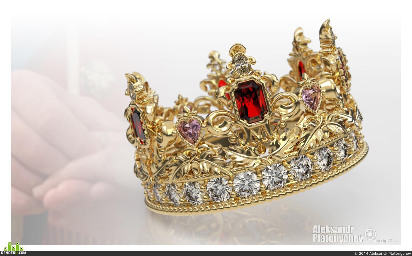 preview Кольцо в виде короны