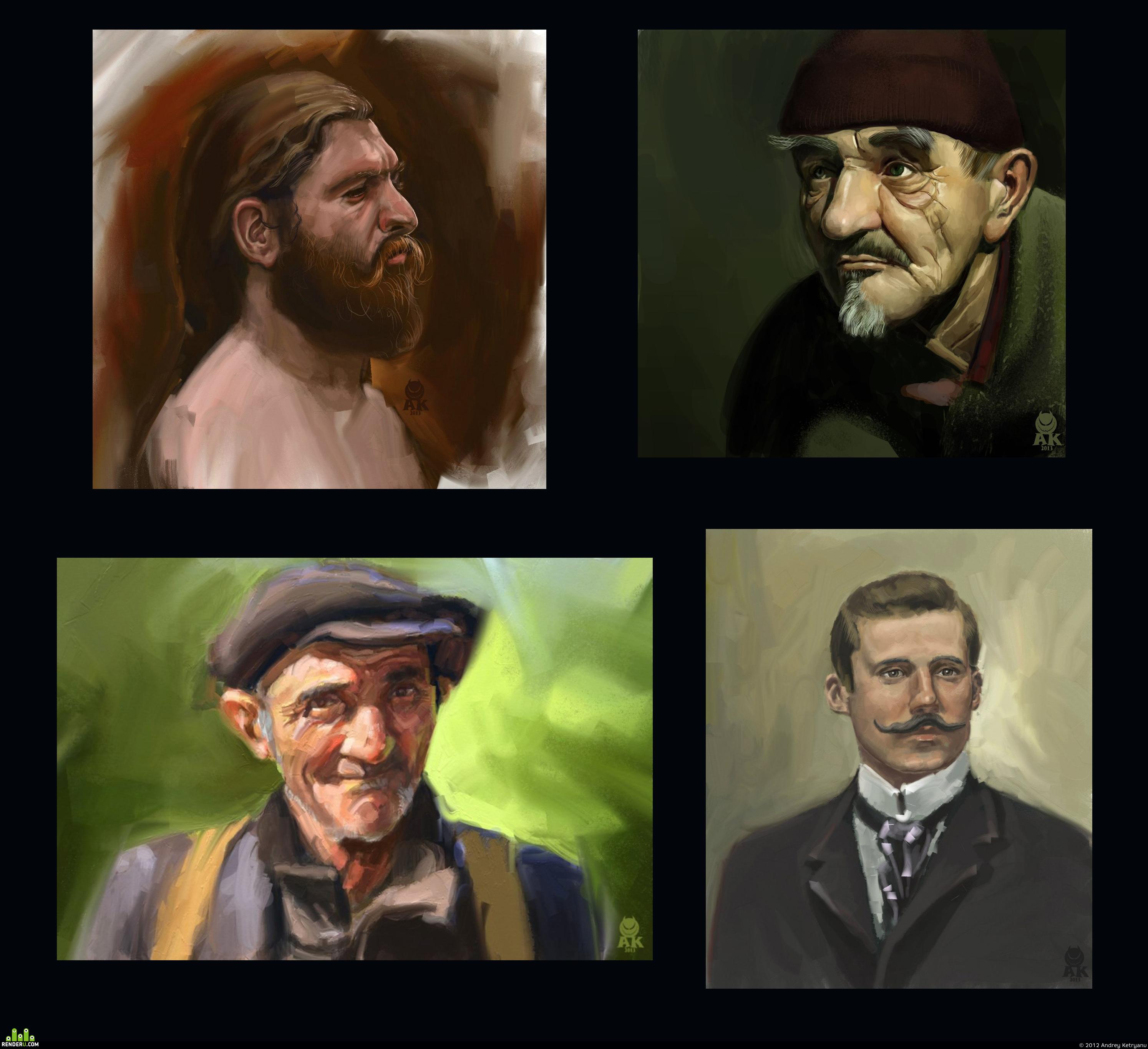 preview портретные этюды с фото