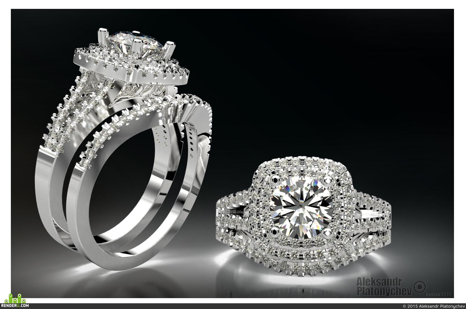 preview Бриллиантовое обручальное кольцо  (обручальное набор)