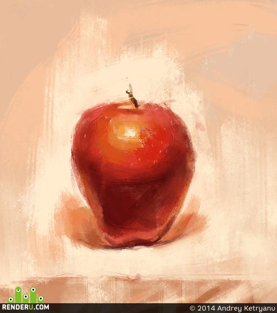 preview Этюд красное яблоко