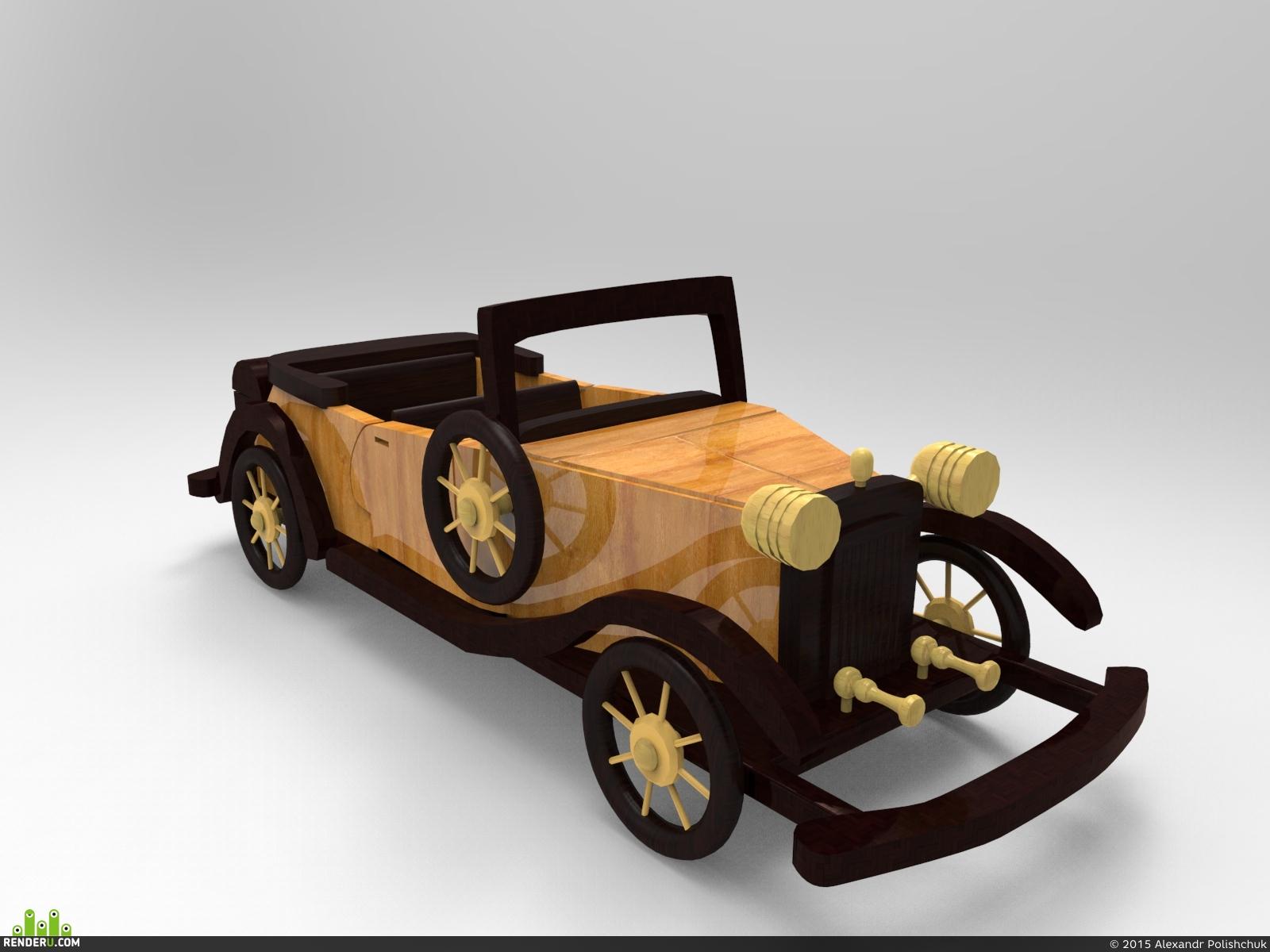 preview Деревянная машинка ручной работы