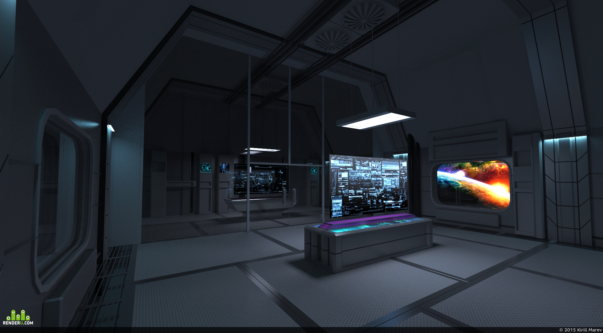 preview Космический  интерьер