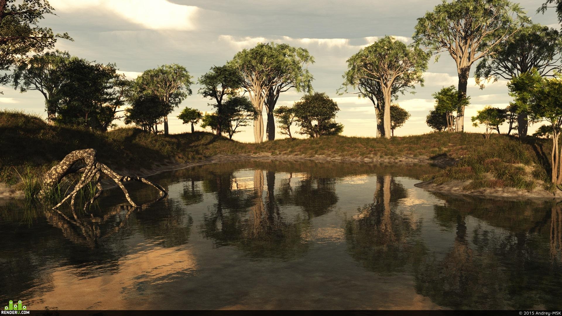 preview Лесное озеро